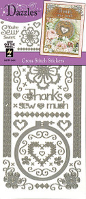 HOTP DAZZLES CROSS STITCH Outline Peel Stickers 2431 SILVER