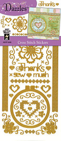 HOTP DAZZLES CROSS STITCH Outline Peel Stickers 2430 GOLD