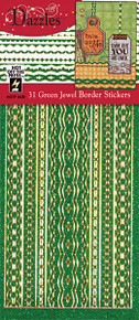 HOTP Dazzles N2439 Green Jewel Border Stickers