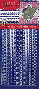 HOTP Dazzles N2442 Blue Jewel Border Stickers