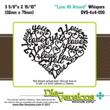 Die-Versions DVS-4X4-099 LOVE ALL AROUND Cutting Die
