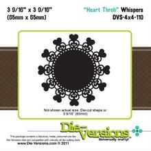 Die-Versions DVW-4X4-110 HEART THROB Whispers Cutting Die