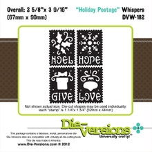 Die-Versions DVW-182 HOLIDAY POSTAGE Whispers Cutting Die