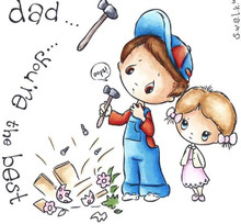 SWALK Unmounted BEST DAD Rubber Stamp SWST-DAD Collection