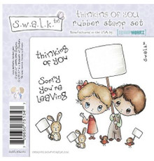 SWALK Unmounted THINKING OF YOU Rubber Stamp SWST-YOU-EZ