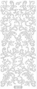 Starform GLITTER GOLD-SILVER Swirls N1283 GS Stickers Leaves Beautiful Elegant Peel Outline