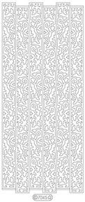 Starform GLITTER GREEN GOLD N7045 RIBBON LEAVES Stickers Leaves Beautiful Elegant Peel Outline
