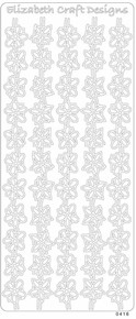 ELIZABETH CRAFTS BORDERS FLOWERS SILVER N0416 Peel Stickers