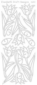 ELIZABETH CRAFT TULIPS GOLD 0491 Peel Off Stickers OUTLINE