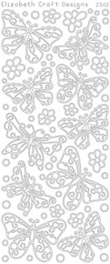 ELIZABETH CRAFT BUTTERFLIES SM GOLD N2342 Peel Off Stickers OUTLINE