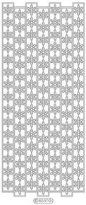 Starform RIBBON SNOWFLAKES SILVER N8537 Peel Off Stickers OUTLINE