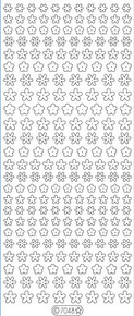 Starform GLITTER PINK SILVER N7048 MINI FLOWERS Stickers Peel Outline