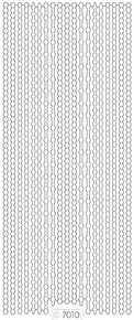Starform GLITTER SILVER-GOLD N7010 BORDERS ASSORTED Stickers Peel Outline