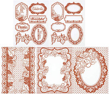 Color Me Card Toppers COPPER LEAVES 7060 SM Paper Pack