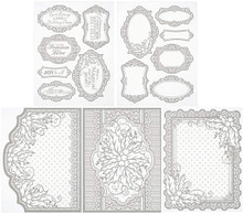 Color Me Card Toppers SILVER  Holly 7059 SM Paper Pack