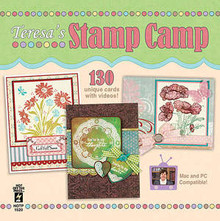 Teresa's STAMP CAMP CD 1520 - 130 UNIQUE CARDS WITH VIDEOS! STAMPING CARD MAKING