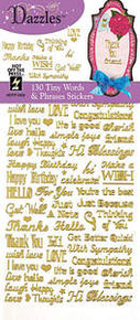 HOTP Dazzles N2402 Gold Tiny Words And Phrases Stickers