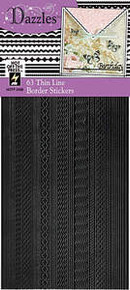 HOTP Dazzles N2406 Black 63 Thin Line Border Outline Stickers