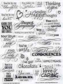 35 HOTP HEARTFELT GREETINGS 1085 Rubber Stamps Unmounted
