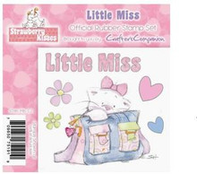 STRAWBERRY KISSES - LITTLE MISS - EZMount Stamp Set KITTEN
