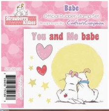 STRAWBERRY KISSES - YOU AND ME BABE - EZMount Stamp Set PUPPY KITTEN