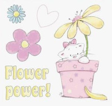 STRAWBERRY KISSES - FLOWER POWER - EZMount Stamp Set PUPPY KITTEN