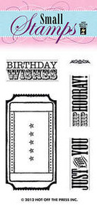 HOTP Clear Stamps Small TICKET 1084 Acrylic