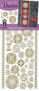 HOTP DAZZLES N1916 Buttons Silver Pearl PEEL OUTLINE STICKERS