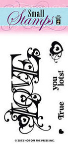 HOTP Clear Stamps Small Love 1082 Acrylic