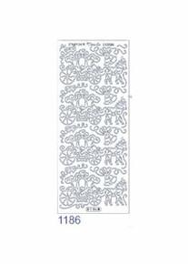 Starform FLOWER BURST 1126 BLACK Peel Stickers OUTLINE