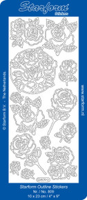 Starform ROSES SILVER 809  Peel Stickers