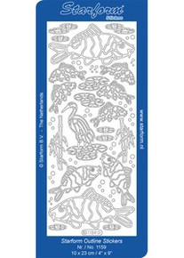 Starform ASIAN FISH KOI 1159 GOLD Peel Stickers OUTLINE ORIENTAL
