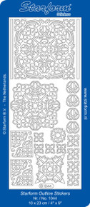 Starform ELEGANT DESIGNS & CORNERS 1044 SILVER Peel Stickers OUTLINE
