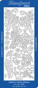Starform PARROTS 1258 GOLD Peel Stickers