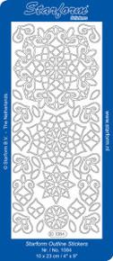 Starform 3-D Ornament 1084 GOLD Peel Stickers