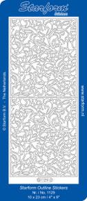 Starform DECO RECTANGULAR PANEL 1129 GOLD Peel Stickers OUTLINE