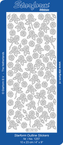 Starform LITTLE ROSES GOLD N1257  Peel Stickers