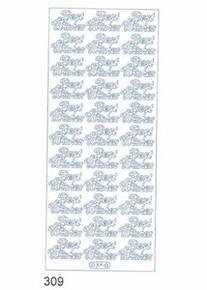 Starform N309 SILVER BEST WISHES Outline Peel Sticker