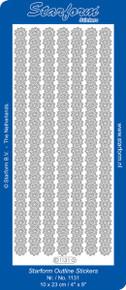 Starform DAISY BORDERS 1131 BLACK OUTLINE STICKERS