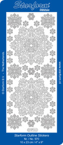 Starform Deco Snowflake GOLD 970 Outline Peel CHRISTMAS Sticker