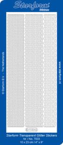 Starform TRANS GLITTER GOLD WAVY 7033TGG BORDERS Outline Peel Sticker