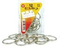 12 Book Rings 1.5in Silver Closures Hygloss