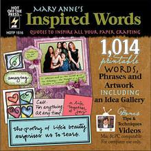 Mary Anne's Inspired Words N1516 CD 1014 Printable Words Phrases Artword