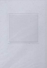 Square Window Card w/ envelope & Insert LT GRAY