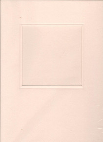 Square Window Card w/ envelope & Insert LT PEACH