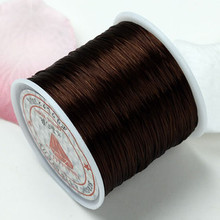 80m .5mm Strong Stretchy beading string BROWN elastic