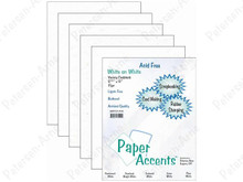 Paper Accents White on White Cardstock Pack