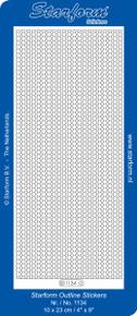 Starform CIRCLE BORDERS Peel Stickers SILVER 1134