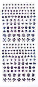 HOTP Dazzles N1637 Purple Flower Jewel PEEL OUTLINE STICKERS