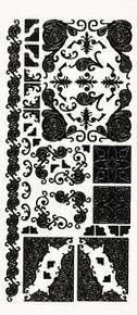 HOTP Dazzles N1577 BLACK CORNERS Outline Peel Sticker